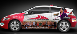 Marathon Makeover Prize Patrol car wrap
